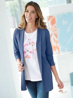 Shirtjasje - jeansblauw