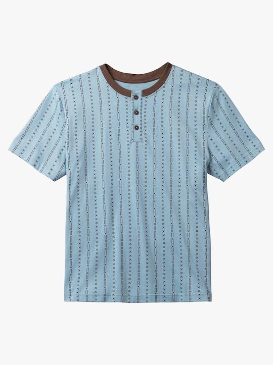 Krátké pyžamo - modrá-hnědá