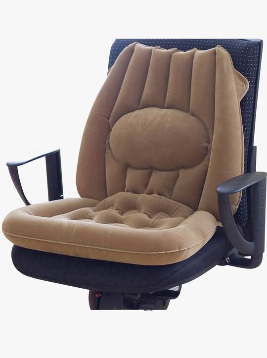 Sitzkissen mit Lendenwirbelstütze - braun