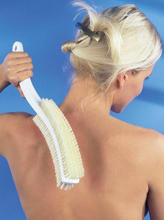 Körperbürste - weiß