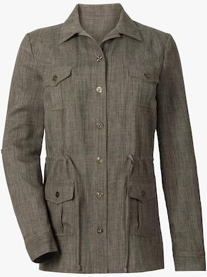 Lange blouse - olijf