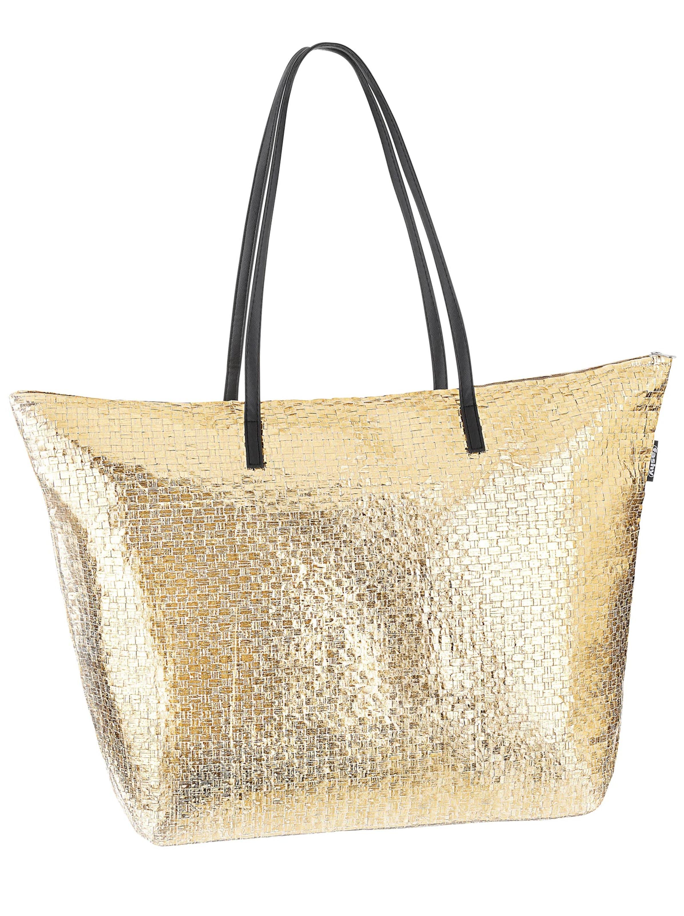 witt weiden - Damen Strandtasche goldfarben