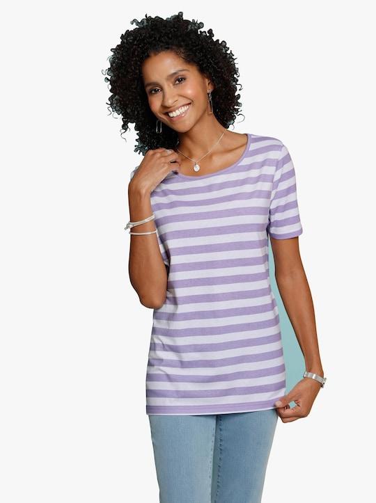 Shirt - paars gestreept