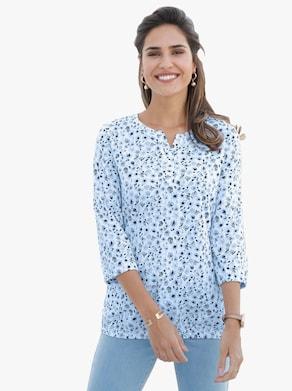 Shirt - ijsblauw geprint