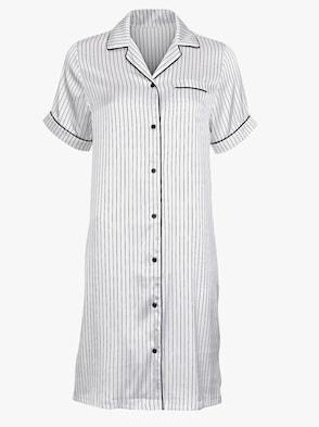 Nachthemd - weiß-schwarz