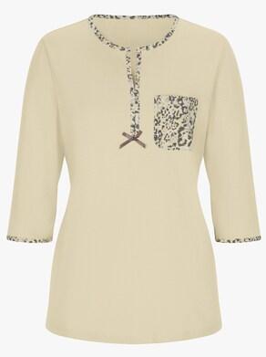 wäschepur Schlafanzug - vanille-grau-bedruckt
