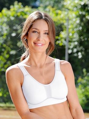 Viania Sport-BH ohne Bügel - weiß