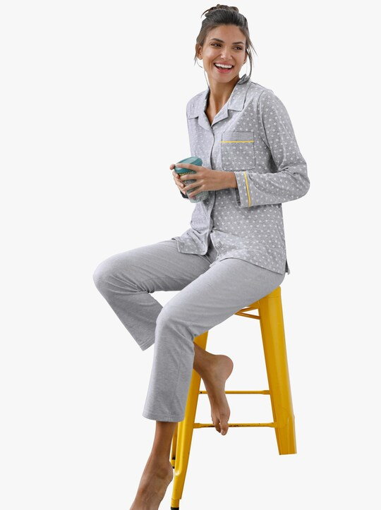 Comtessa Schlafanzug - grau-melange