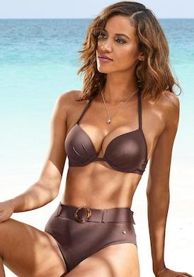 s.Oliver Push-Up-Bikini-Top - braun