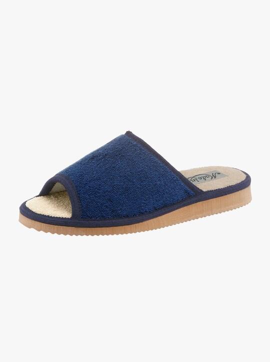 Pantoffel - bordeaux + marine