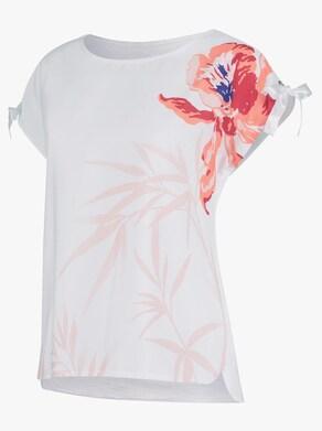 Blusenshirt - weiß-bedruckt
