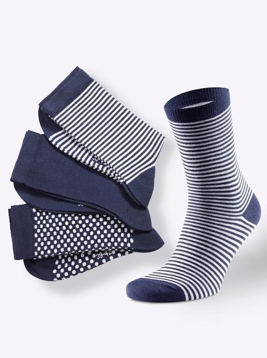 wäschepur Damen-Socken - marine