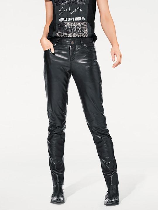 Ashley Brooke Lederhose - schwarz