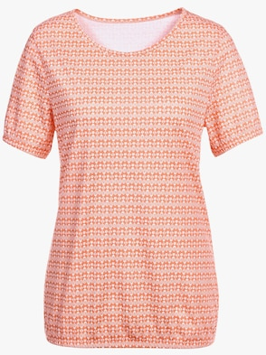 Shirt - orange-gemustert