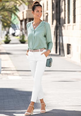 LASCANA Schlupfbluse - lindgrün