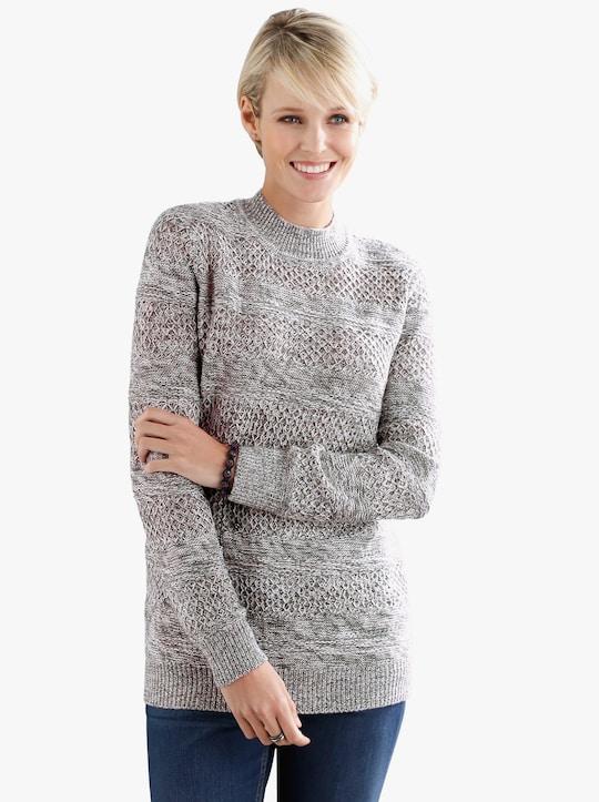 Pullover - beige gemêleerd