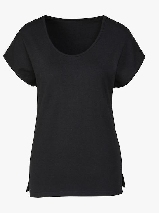 wäschepur Shirt - weiß + schwarz