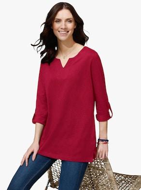 Dlouhé tričko - bordó
