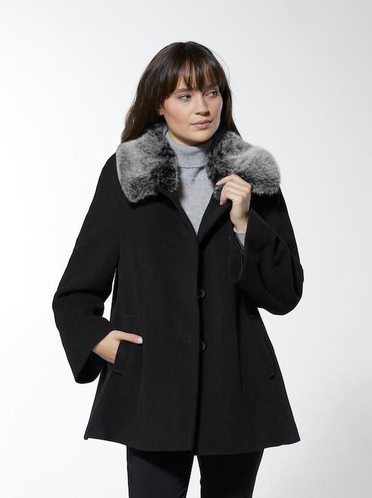 Woll-Jacke - schwarz