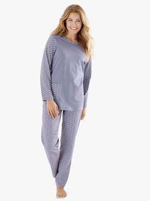 Schlafanzug - lila-bedruckt