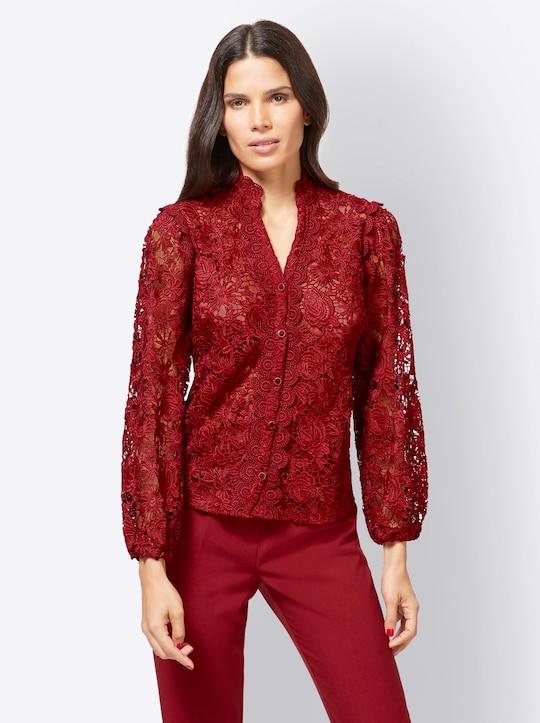 Ashley Brooke Kanten blouse - kers
