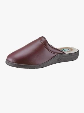 Pantofle s podšívkou - bordó