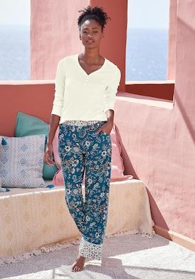 LASCANA Pyjamaoberteil - ecru