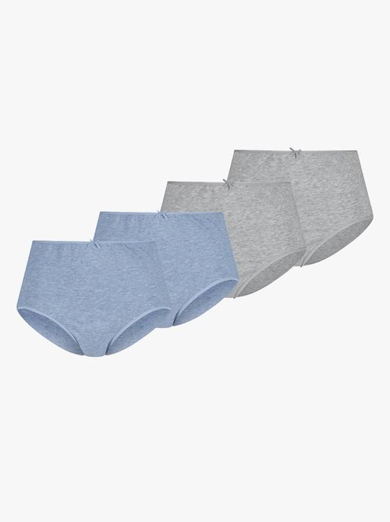 wäschepur Taillenslip - jeansblau + grau-meliert