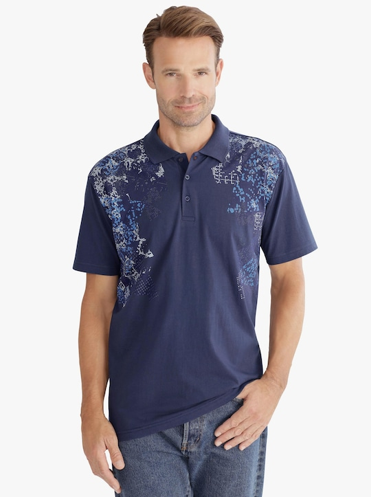 Poloshirt - marine-bedruckt