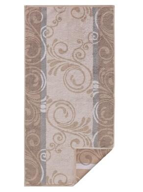 Cawö Handtuch - beige-gemustert