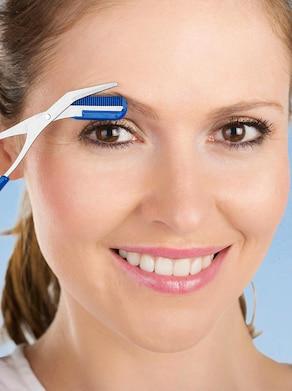 Augenbrauenschere - blau