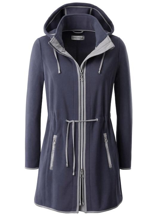 Collection L Fleece-Jacke - blau