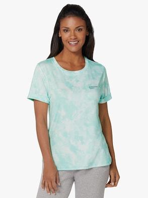 Freizeitshirt - mint-bedruckt