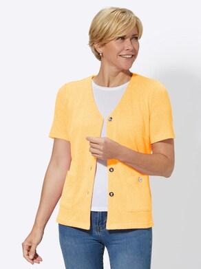 Shirtjacke - gelb-meliert