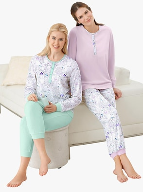 Pyjama's - lila + mint
