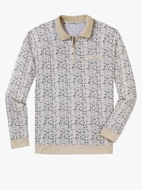 Poloshirt - beige-bedruckt