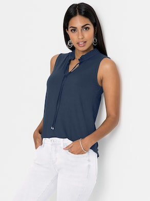 Shirttop - dunkelblau