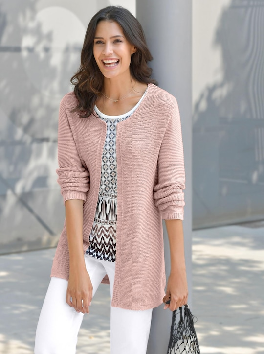 Strickjacke - rosé