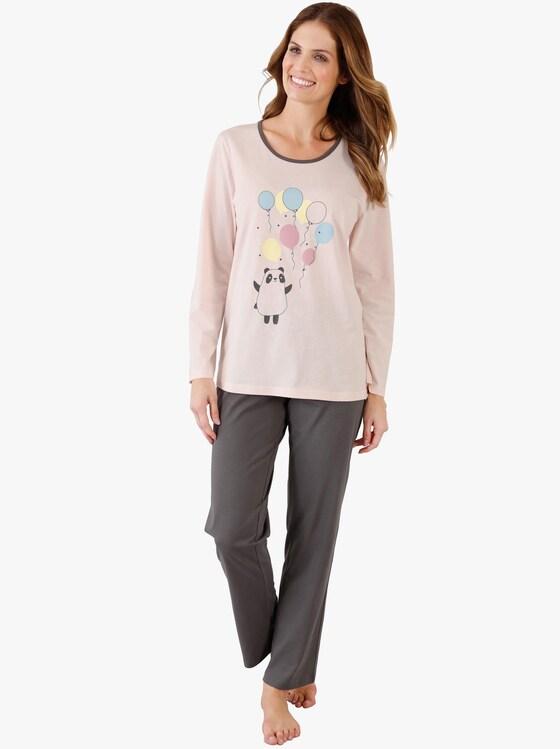 Pyjama - roze/antraciet