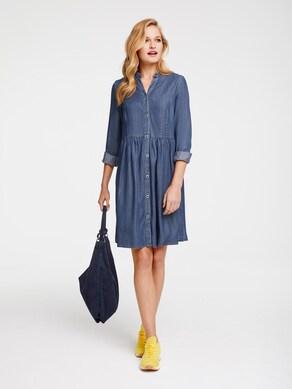 Linea Tesini Jeans-Kleid - blue denim