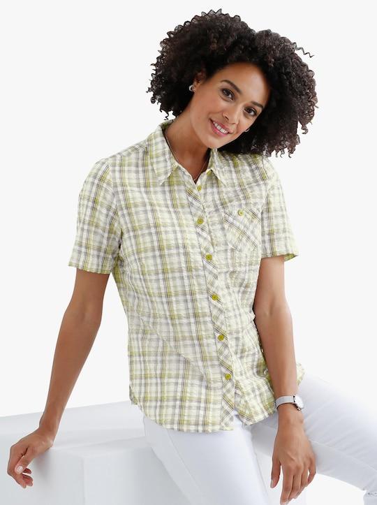 Katoenen blouse - groen geruit