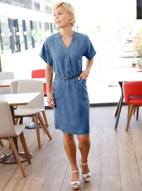 Collection L Kleid - jeansblau
