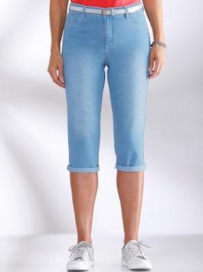 Capri-Hose - blue-bleached