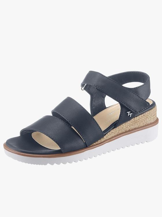 Tom Tailor Sandalette - dunkelblau