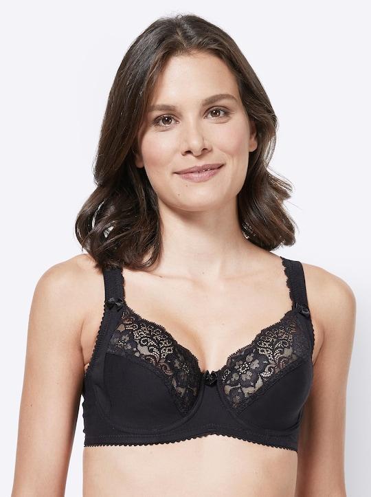 Miss Mary Bügel-BH - schwarz