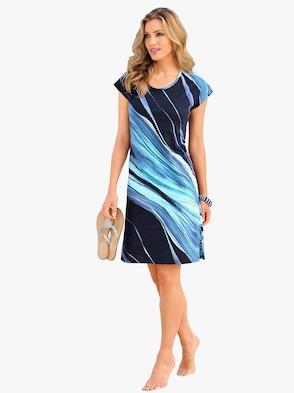Sommerkleid - marine-blau