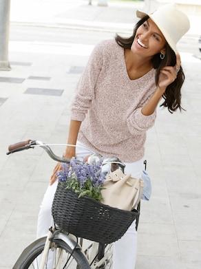 Collection L Pullover - beige gemêleerd
