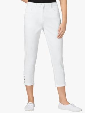 Hose wadenlang - weiß