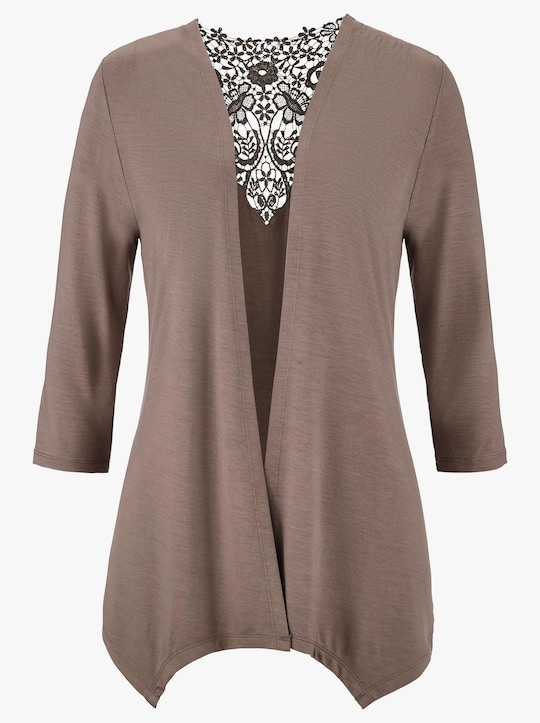 Fair Lady Shirtjacke - taupe