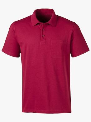 Poloshirt - kirsche + nachtblau